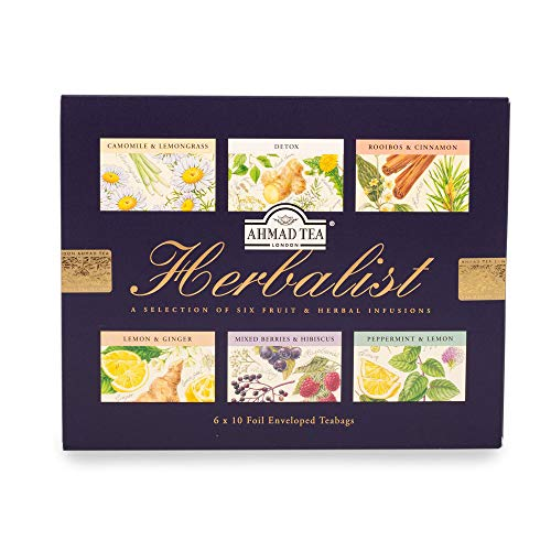 Ahmad Tea Herbalist Selection of 6 Fruit & Herbal Infusions - 60 Teabags