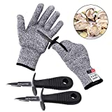Oyster Shucking Knife -High Performance Level 5 Protection Food Grade Cut Resistant Gloves Stainless...