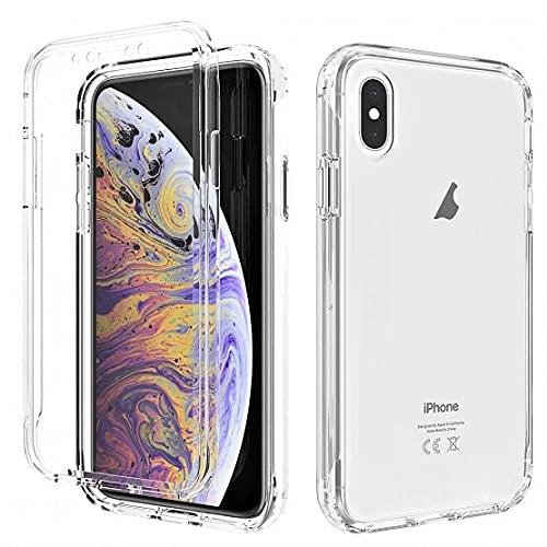 Le petit Français® Coque pour IPhone X et XS Double Protection Antichoc Avant arrière complète Transparente Fine Silicone intégrale 360 ° X s iphone