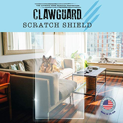CLAWGUARD Scratch-Shield - Strong Transparent Protection to Shield from Pet Damage to Drywall, Doors and Screen Doors. Keep Paws Safe and Home Clean. Dog, Cat, Rabbit, Bird Scratch Protection Barrier
