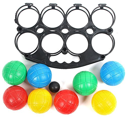 GadgetZone® Indoor/Outdoor Family Games. School Sports Day Garden Party Games Family Fun Team Building Drinking Games Skill And Strategy (Plastic French Boules)