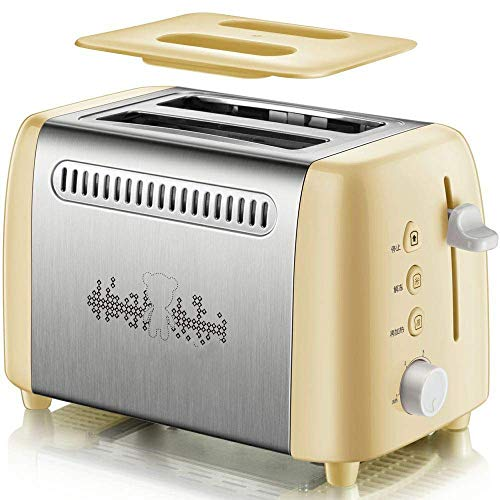 MEETGG Tostadora, tostadora de borde de acero inoxidable, máquina de desayuno, 6 limas