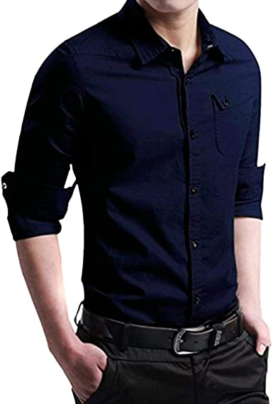 Hffan Camisa De Hombre Slim Fit Tool Unico Fashion con Cuello ...