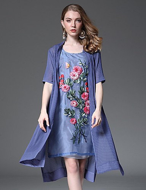 GAOLIM Women's Daily Dress, Floral Print Round Neck Sleeveless
