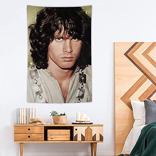 ONID Jim Morrison - Tapiz de poliéster para decoración del hogar, 100 x 150 cm