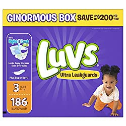 Luvs Ultra Leakguards- best overnight diapers
