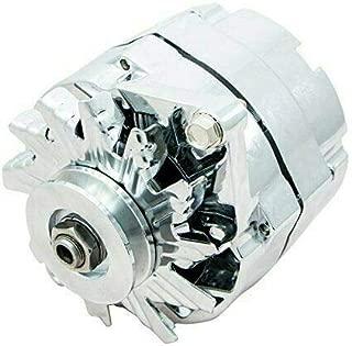 A-Team Performance GM 10SI Style 110 Amp Alternator Compatible with Buick, Cadillac, Chevrolet, Detroit, GM Diesel V8, GM Inline, GM V6, Isuzu, Oldsmobile, Pontiac V8, Chrome