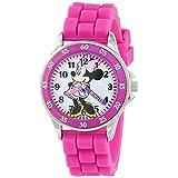 Disney(ディズニー)キッズ ミニーマウス クォーツ式アナログウォッチ MN1157 (ミニーちゃんのピンクの時計) 【並行輸入品】