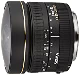 Sigma 8mm f3.5 Circular Fisheye EX DG CAF - Objetivo para Canon (Distancia Focal Fija 8mm, Apertura f/3.5) Color Negro