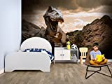 Fotomural Vinilo Pared Infantil Dinosaurio | Fotomurales | Fotomural Pared | Fotomural Decorativo | Vinilo Decorativo | Varias Medidas 200 x 150 cm | Decoración comedores, Salones | Diseño Elegante