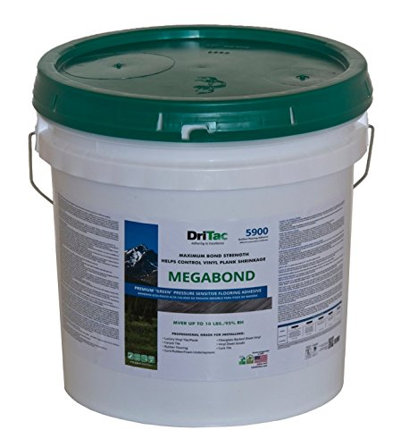 DriTac 5900 MegaBond - - Resilient Flooring Adhesive - Vinyl Tile/Plank/Cork/Others - 1-Gallon