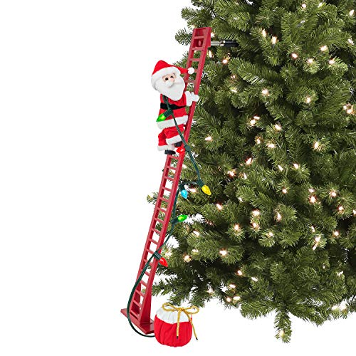 "Mr. Christmas 37229' 56"" Indoor Deluxe Stepping Santa Christmas Décor, 40-inch, Red"