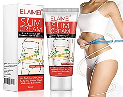 Slim Extreme 3D Termo w/Active Serum Cream - Anti Cellulite & Fat Burner Slimming Cream w/Infused Active Serum to Reduce the Appearance of Cellulite - Body Fat Burning Gel Weight Loss from ElaimeiLab
