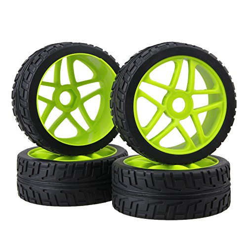 BQLZR 17mm RC 1:8 Off-road Car Hub Tires Wheel Rims For Running On The Cement Ground Pack Of 4