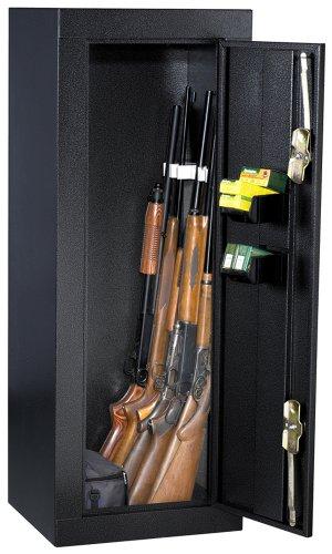 HOMAK HS30103630 12-Gun Security Cabinet, Gloss Black -