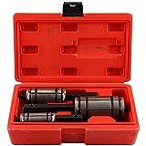Esparcidor de escape, 3 piezas Expansor de tubo de cola profesional Conjunto de herramientas de esparcidor de silenciador de escape portátil con estuche de almacenamiento para automóvil
