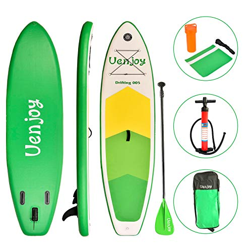 Uenjoy 10' Inflatable Stand Up Paddle Board (6 Inches Thick) Non-Slip...