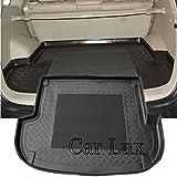 Car Lux AR01740 - Alfombra Bandeja Cubeta Protector cubre maletero a medida con antideslizante para Santa Fe II de 5 Plazas