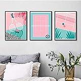 MHFG Pink Stadium und Badminton Poster Kunstdruck Sport