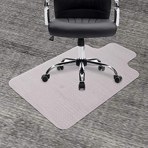 GeeWin - Alfombrilla de silla para alfombras, 91,4 x 121,9 cm, con borde transparente, grueso, resistente, protector de piso para silla...