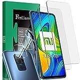 Ferilinso [4 Pack] Cristal Templado para Xiaomi Redmi Note 9 con Paquete de 2 Pack Protector de Lente de cámara, Paquete de 2 Pack para Xiaomi Redmi Note 9 Cristal Templado (Transparente)