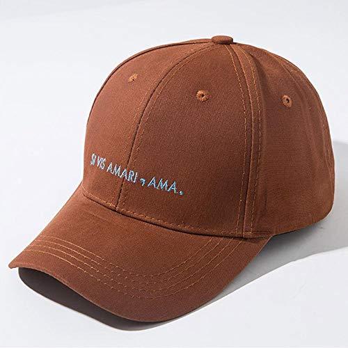CapHerren Kappe Hüte Für Frauen Baseballmütze Mit Buchstabenstickerei Hip Hop Mütze Männer Blau Grün Braun Modehut Verstellbar Brownbaseballcap