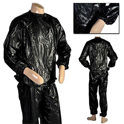 JJOnlineStore - 1x Hochleistungs-Sauna-Anzug, Super-Trainingsanzug für Fitness, Fitnessstudio, Boxer, Schwarze Farbe, Einheitsgröße