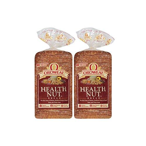 Oroweat Sliced Bread 24oz Loaf (Pack of 2) Choose Flavor Below (Whole Grains - Health Nut)