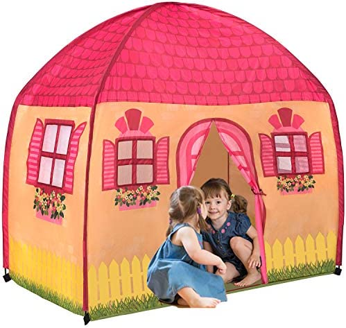 Toysical Play Tent for Girls Indoor Playhouse Tents for Kids with Lifelike House Design 1 2 product image
