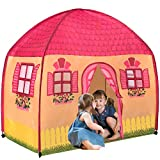 Toysical Play Tent for Girls - Indoor Playhouse Tents for Kids with Lifelike House Design - 1-2-3 Assembly - Birthday and Christmas Toy Gift for 3, 4, 5 and 6 Year Old Children