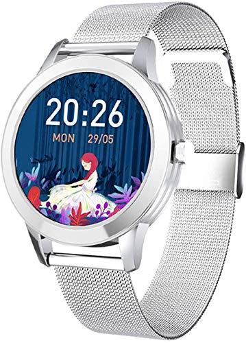 2021 Mujeres Oro Reloj Inteligente Impermeable Presión Arterial Frecuencia Cardíaca Seguimiento De Fitness Femenino Ciclo Menstrual Monitoreo Smart Watch-B