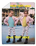Custom Fleece Face Blanket, Ships from US - Print Your Picture, Photo - Best Personalized Funny Cozy Plush Keepsake Blanket for Women, Men