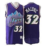 XIAOHAI Jerseys de la NBA de los Hombres, Jazz # 32 Karl Anthony Malone Desgaste Transpirable Resistente a la Malla Bordado Baloncesto Swingman Jerseys Camiseta Deportiva Jerseys,XXL