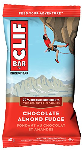 CLIF BAR - Energy Bars - Chocolate Almond Fudge - (68 Gram Protein Bars, 12 Count)