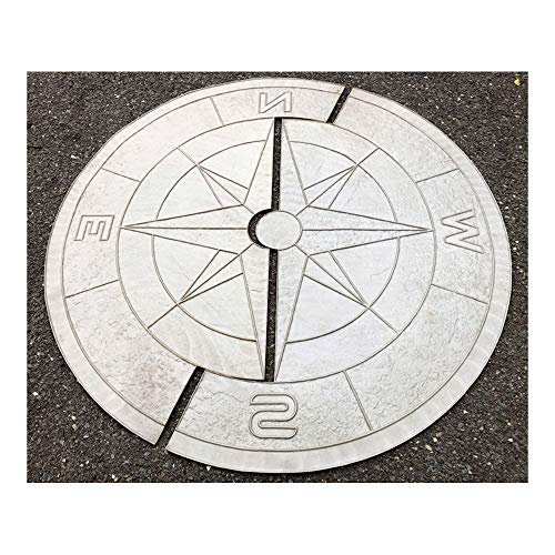 Set of Polyurethane Mat Stamps COMPASS Big | Texturing Concrete Cement Stamping Skin Slate Pattern Stone Imprint Texture Stamp Mat Polyurethane Stamping