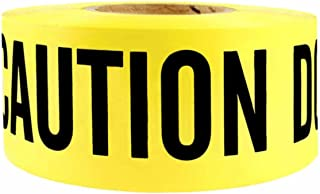 3 in X 1000 FT 2 MIL Barricade Safety Tape Caution Do Not Enter Yellow/Black Print