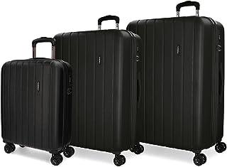 MOVOM Women's Set 3 suitcases, Black, 75 cm
