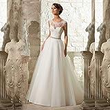 JYL Wedding Dress Bride Gown Bridesmaid Dress Deep V-neck Floor Length Vintage Elegant Trailing Wedding Dress Ivory/US:14 (4XL)