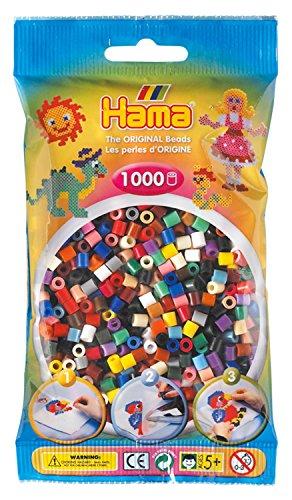 Hama - 207-67 - Loisirs Créatifs - Perles et Bijoux - Sachet 1000 Perles Mixte 22 Couleurs