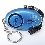Mini Minder Key Ring Llave Personal Alarma Ataque Violación Alarma 140dB con antorcha (Azul)