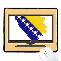 ボスニアヘルツェゴビナの地図の国旗 マウスパッド・ノンスリップゴムパッドのゲーム事務所