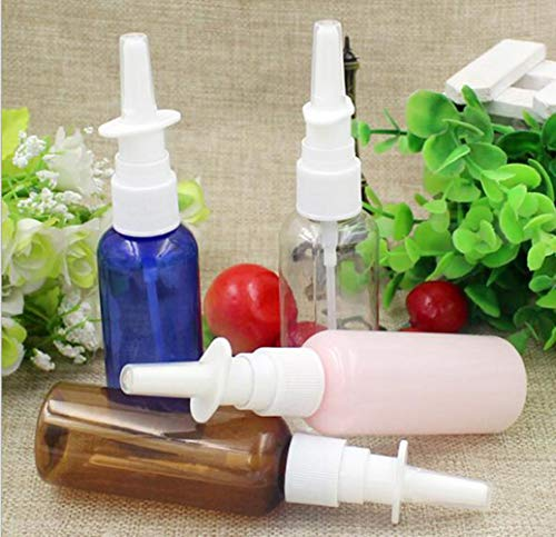 QPM 50ml kleurrijke lege fijne neusspray Mist plastic fles, cosmetische neusspray fles
