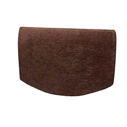 Classic Home Store Chenille Single Chair Back Plain Soft Touch Antimacassar Sofa Furniture Cover (Brown)