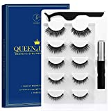 Magnetic Eyelashes Kit 5-Different Lengths&Different Densities Magnetic Eyeliner With Magnetic Eyelashes False Lashes Natural Look-No Glue Needed (5-Pairs)