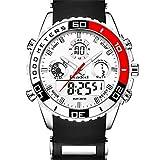 Youwenトップブランドメンズスポーツ時計メンズクォーツアナログLED時計マンミリタリー防水時計スポーツ