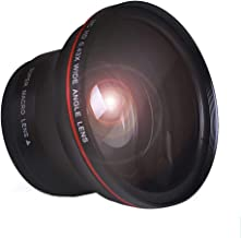Tectra 55MM 0.43x Professional HD Wide Angle Lens (Macro Portion) for Nikon D3400, D5600 and Sony Alpha Cameras