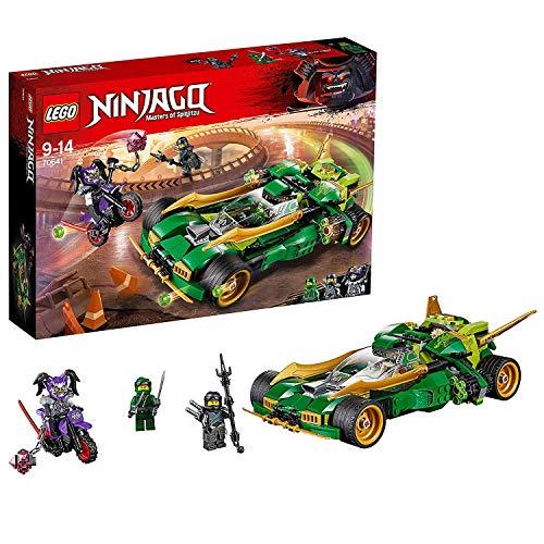 LEGO Ninjago - Reptador Ninja Nocturno, Set de Construcción de Juguete Divertido con Coche, Moto y Minifiguras de Acción de Ninja (70641)