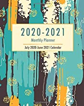 2020-2021 Monthly Planner - July 2020-June 2021 Calendar: 12-Month Calendar Inspirational Quotes, Academic Year Monthly Appoitment Book, July to June 2020 2021 for Student