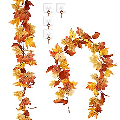 Amazon - Save 70%: Adeeing 2 Pack Artificial Autumn Maple Leaf Garlands 5.7FT/Piece Han…