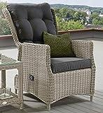 Destiny Sessel Casa Grande Luxe Komfortsessel Verstellsessel Polyrattan vintageweiß
